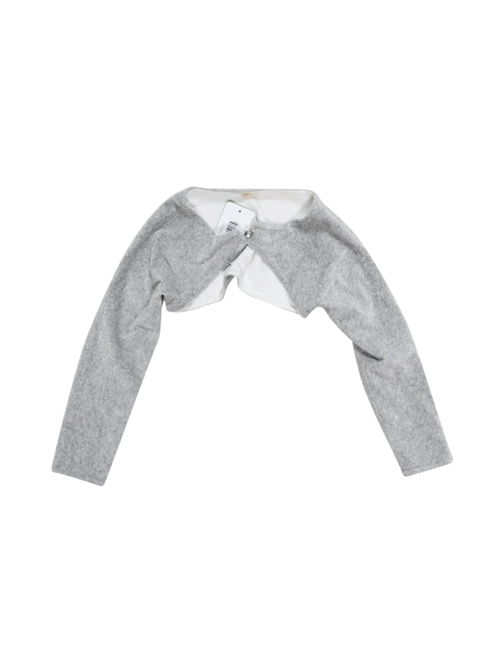 Front photo of Preloved Lana kids girl Grey Girl's bolero - size 5-6 yrs