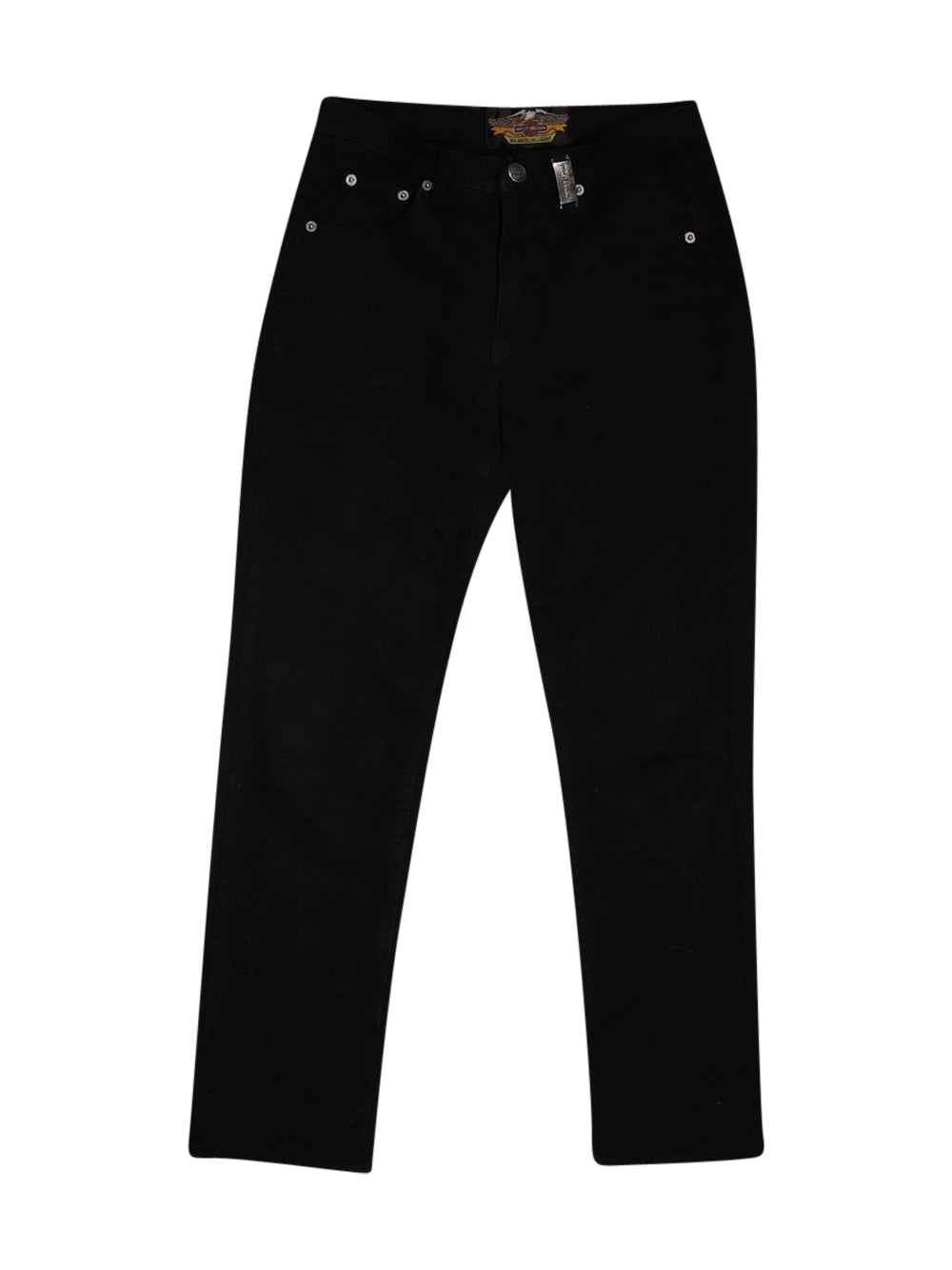 Front photo of Preloved Harley Davidson Black Woman's trousers - size 8/S