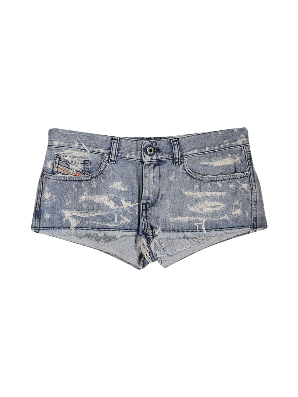 Front photo of Preloved Diesel Blue Woman's shorts - size 8/S