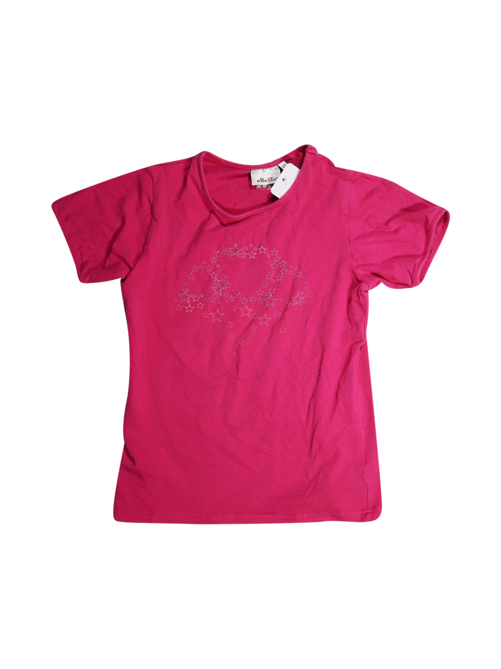 Front photo of Preloved Ellesse Pink Girl's t-shirt - size 10-12 yrs