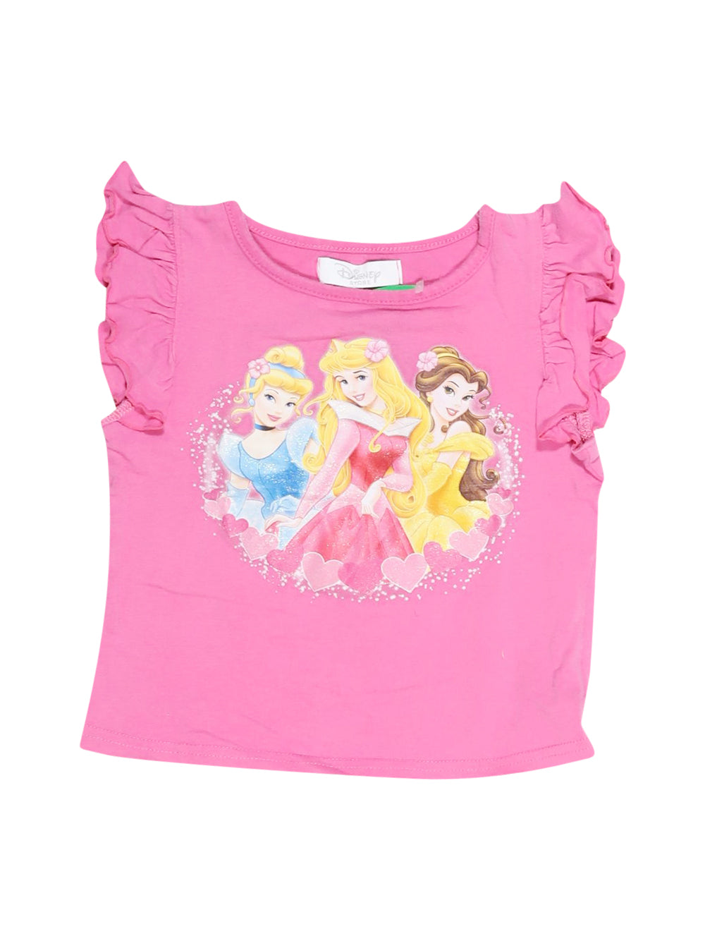 Front photo of Preloved Disney Pink Girl's t-shirt - size 18-24 mths