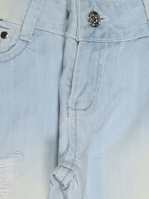 Detail photo of Preloved shob Light-blue Woman's trousers - size 10/M