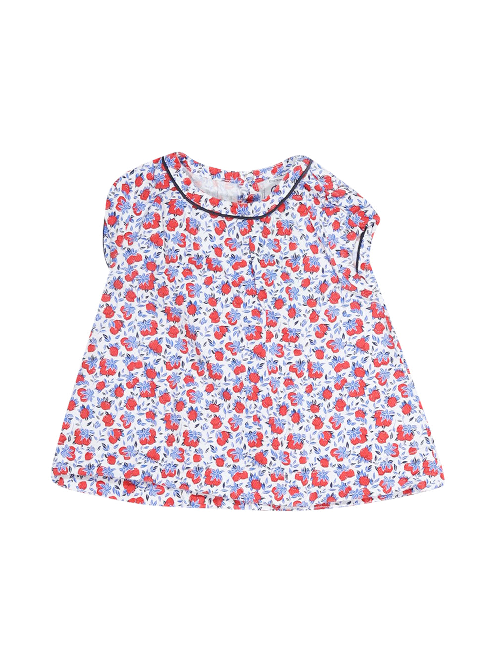 Front photo of Preloved Petit Bateau White Girl's dress - size 9-12 mths