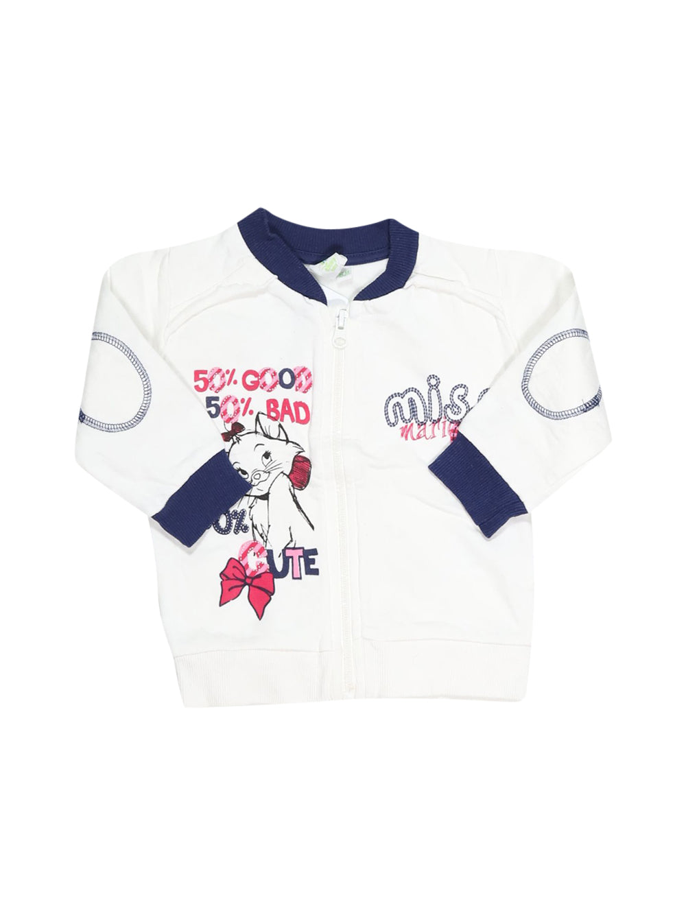 Front photo of Preloved Disney White Girl's sweatshirt - size 12-18 mths