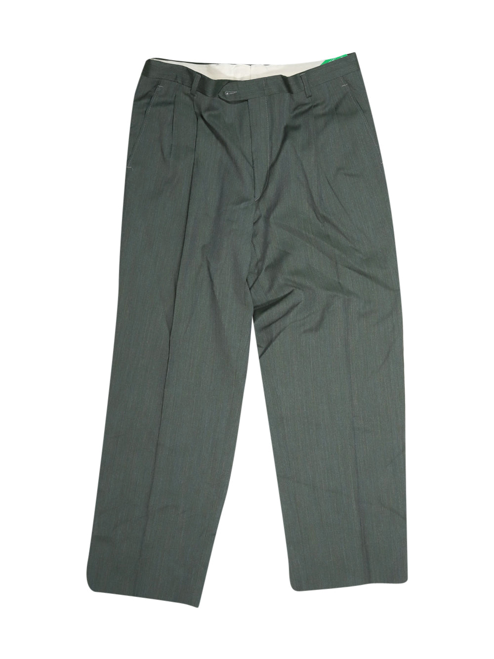 Front photo of Preloved Cerruti 1881 Green Man's trousers - size 40/L