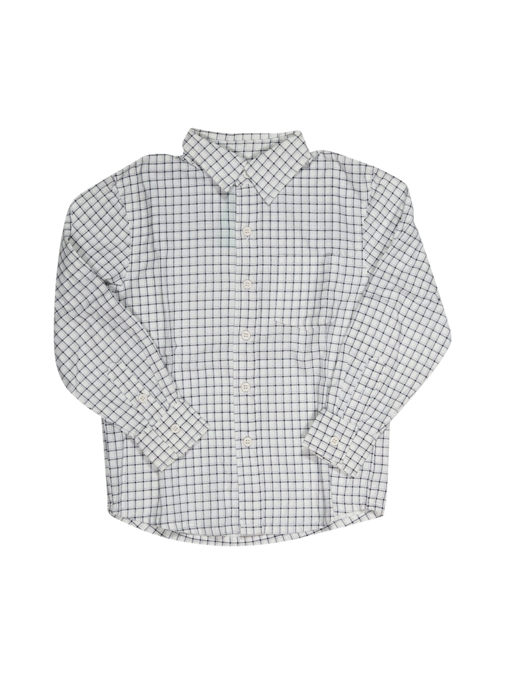 Front photo of Preloved Next White Boy's shirt - size 5-6 yrs