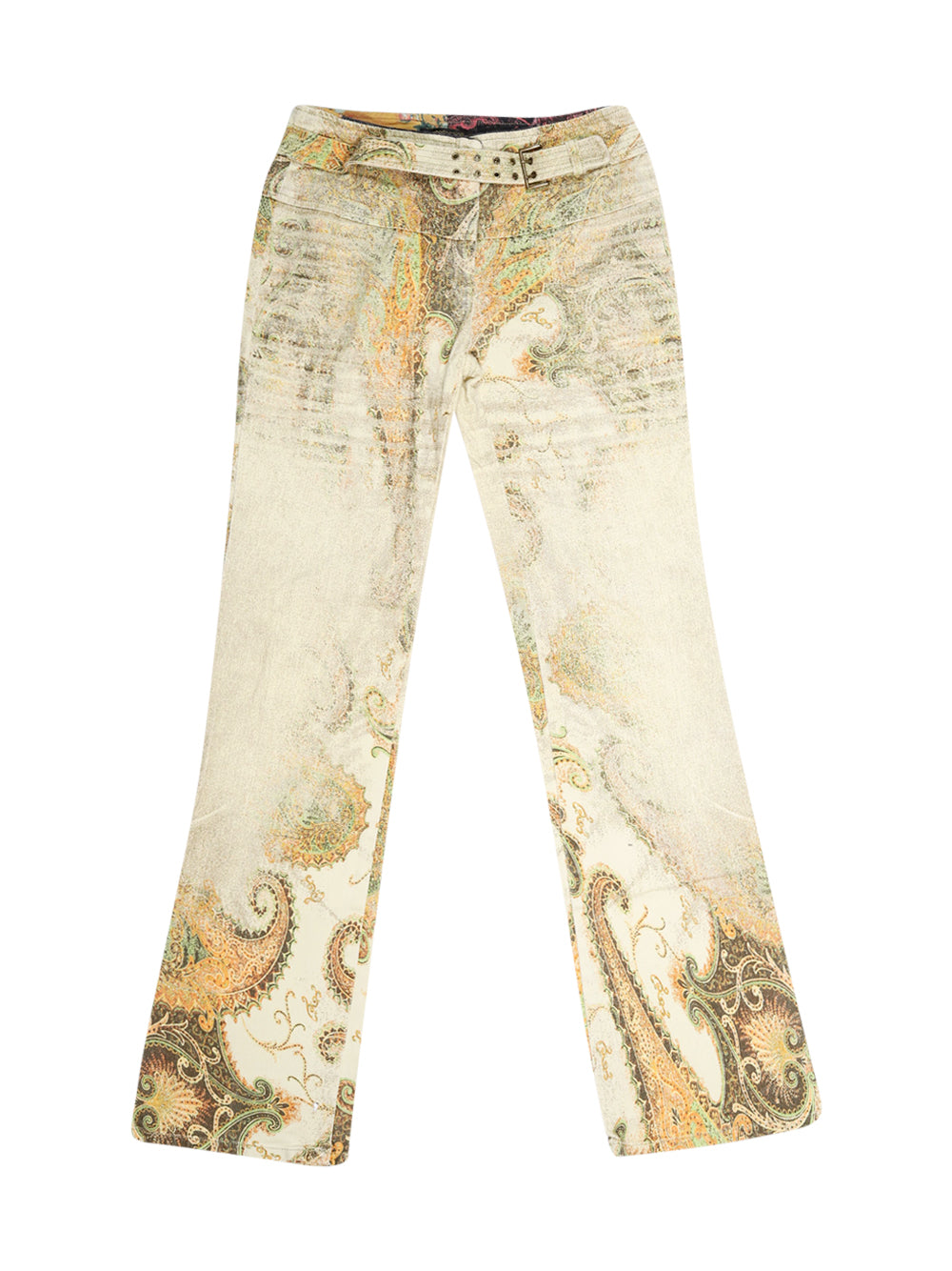 Front photo of Preloved Roberto Cavalli Beige Woman's trousers - size 6/XS