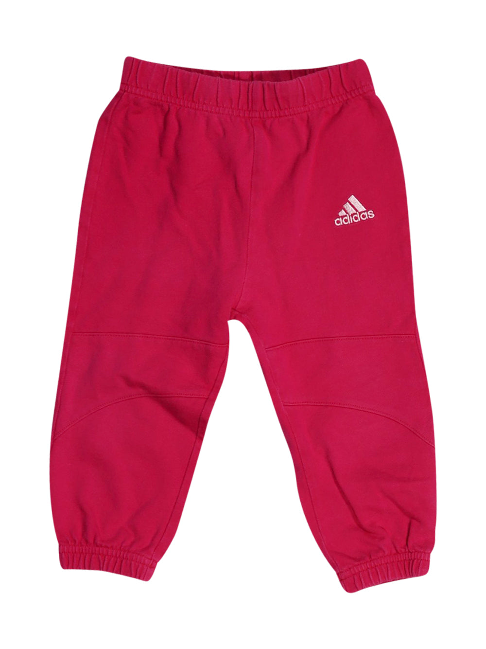 Front photo of Preloved Adidas Pink Girl's trousers - size 12-18 mths