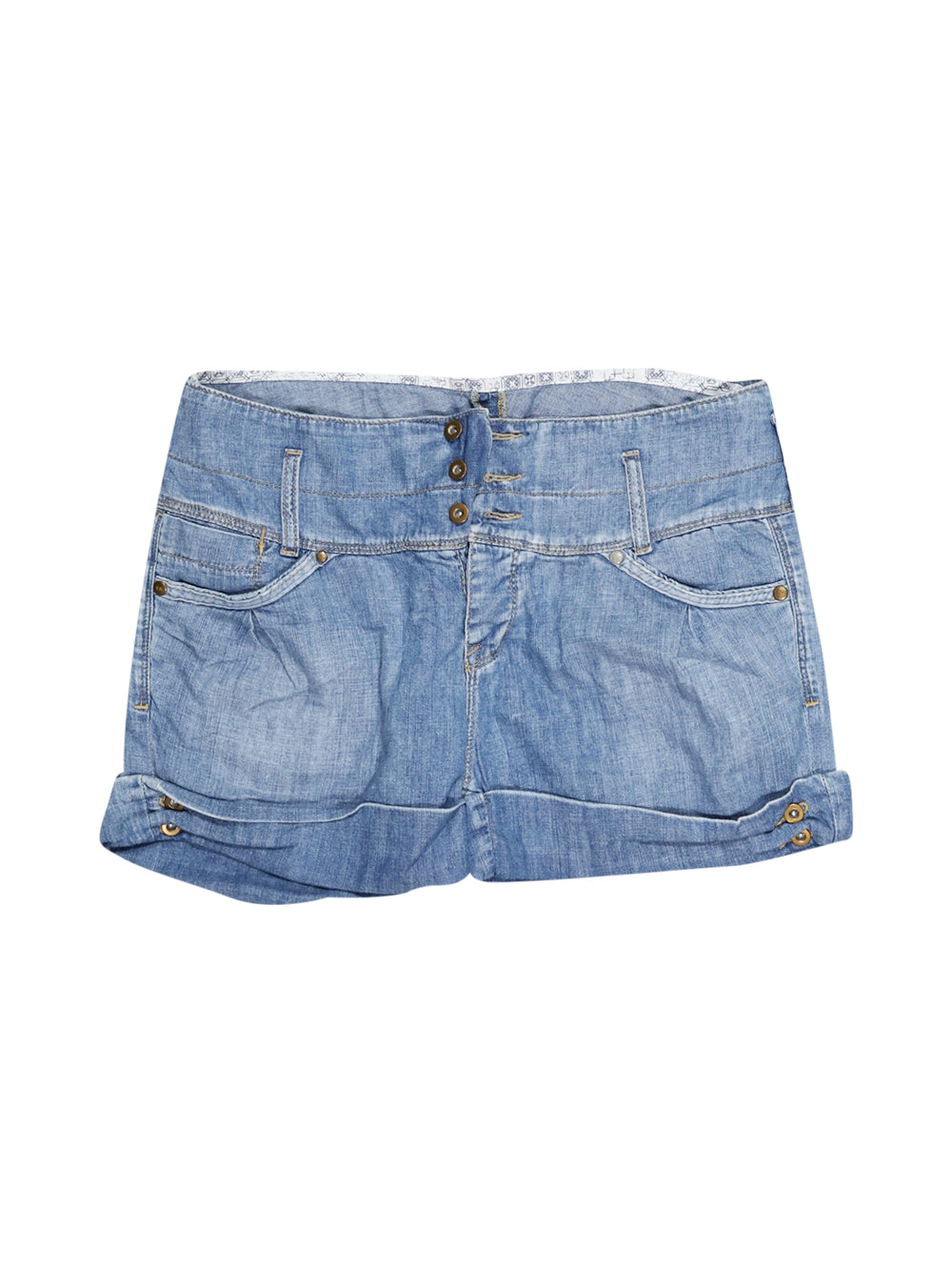 Front photo of Preloved Lee Light-blue Woman's shorts - size 12/L