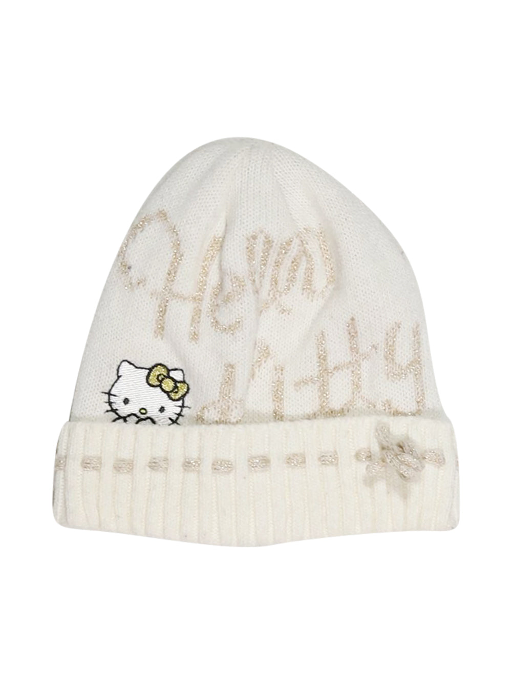 Front photo of Preloved Hello Kitty Beige Girl's hat - size 4-5 yrs