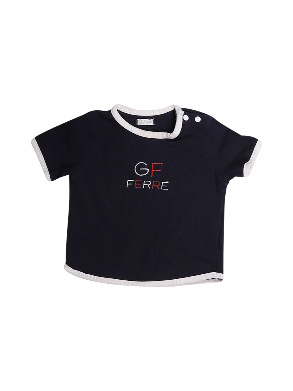 Front photo of Preloved Gf Ferrè Blue Girl's t-shirt - size 1-3 mths