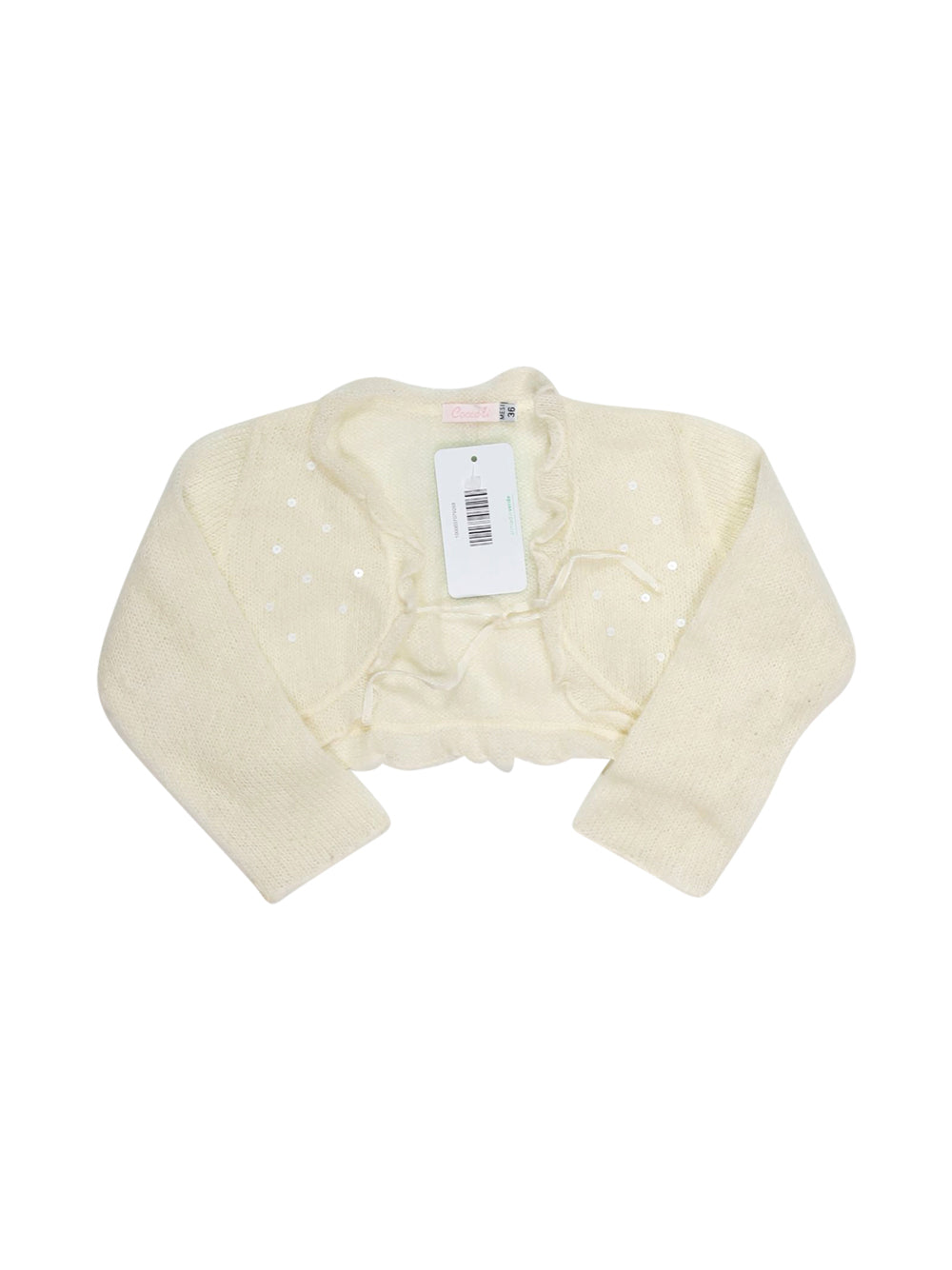 Front photo of Preloved Coccoli White Girl's bolero - size 2-3 yrs