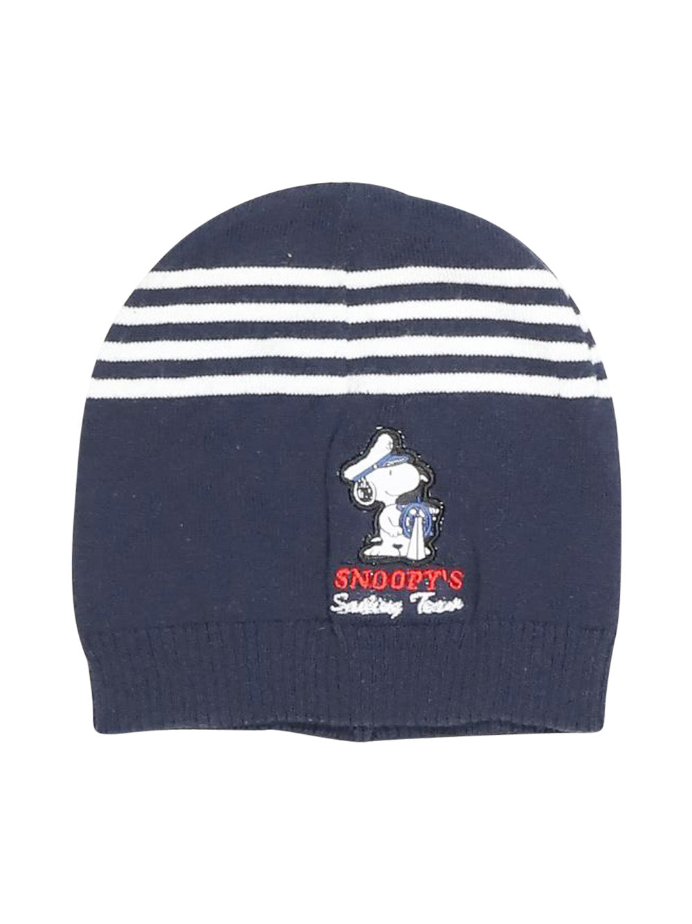 Front photo of Preloved Snoopy Blue Boy's hat - size 2-3 yrs
