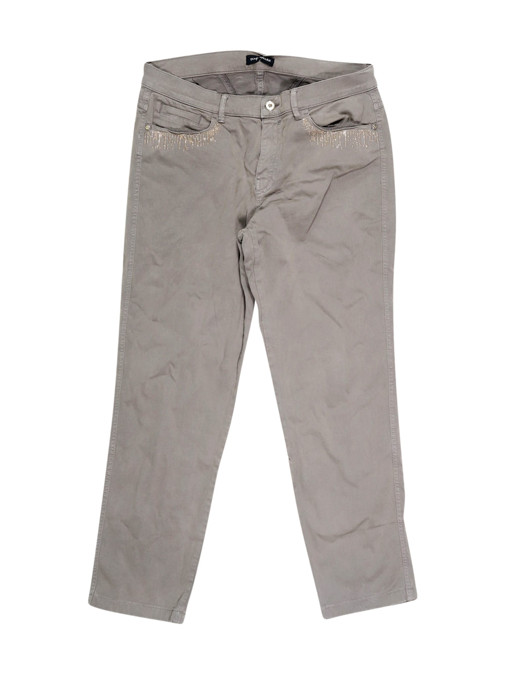 Front photo of Preloved Diana Gallesi Grey Woman's trousers - size 12/L