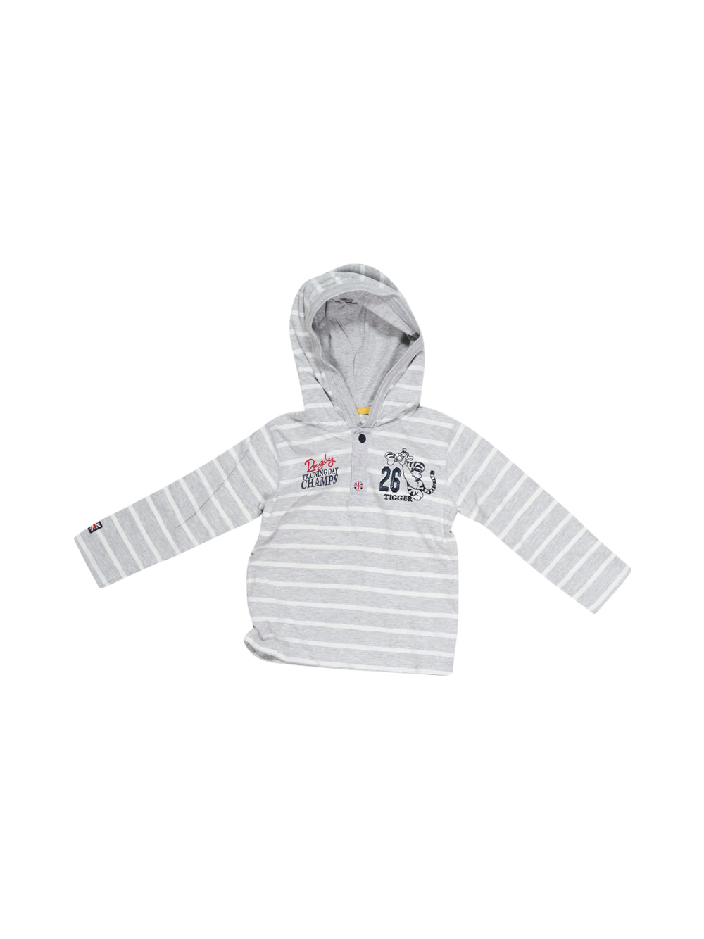 Front photo of Preloved Disney Grey Boy's sweatshirt - size 18-24 mths