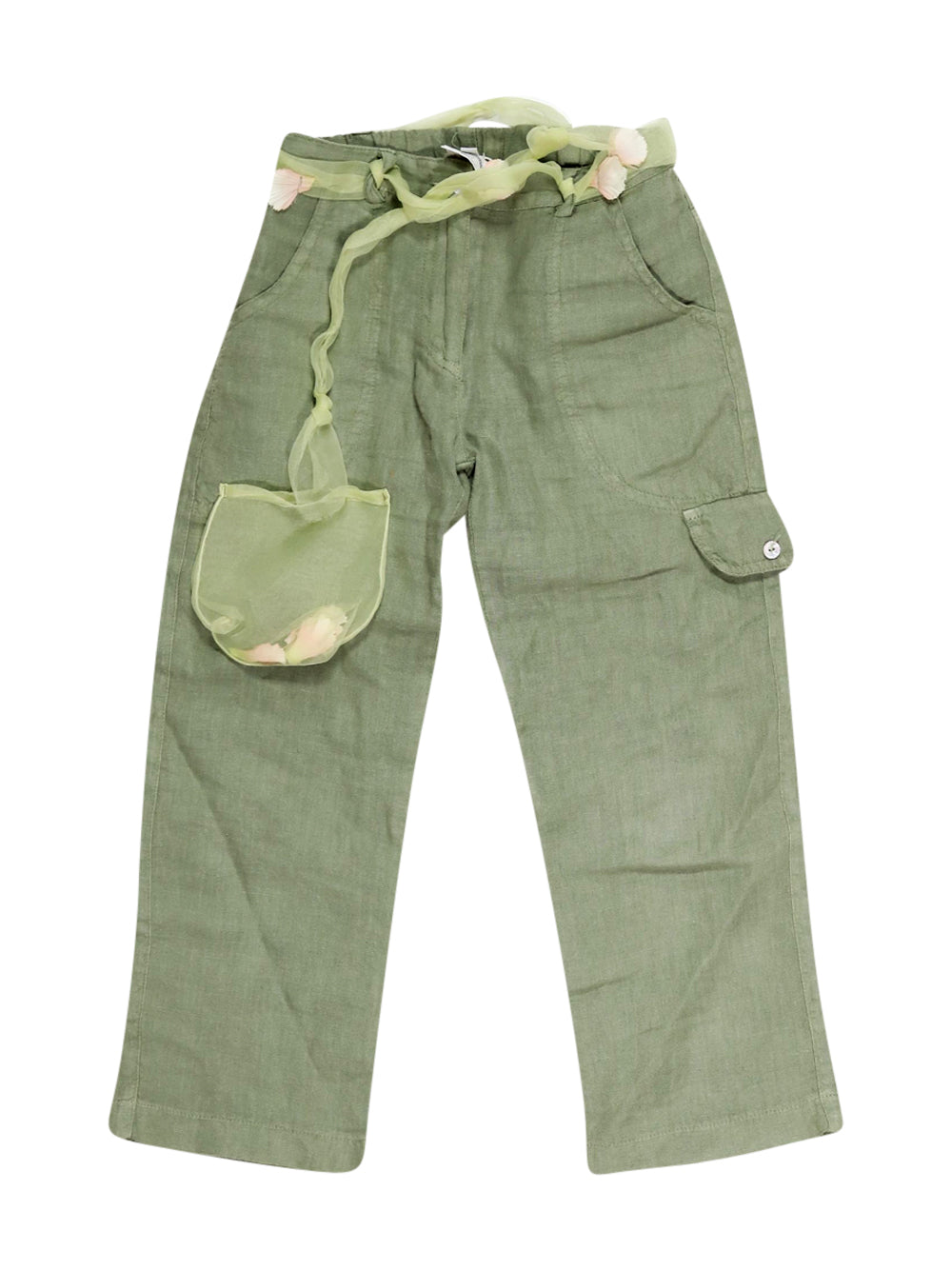 Front photo of Preloved Melograno Green Girl's trousers - size 3-4 yrs