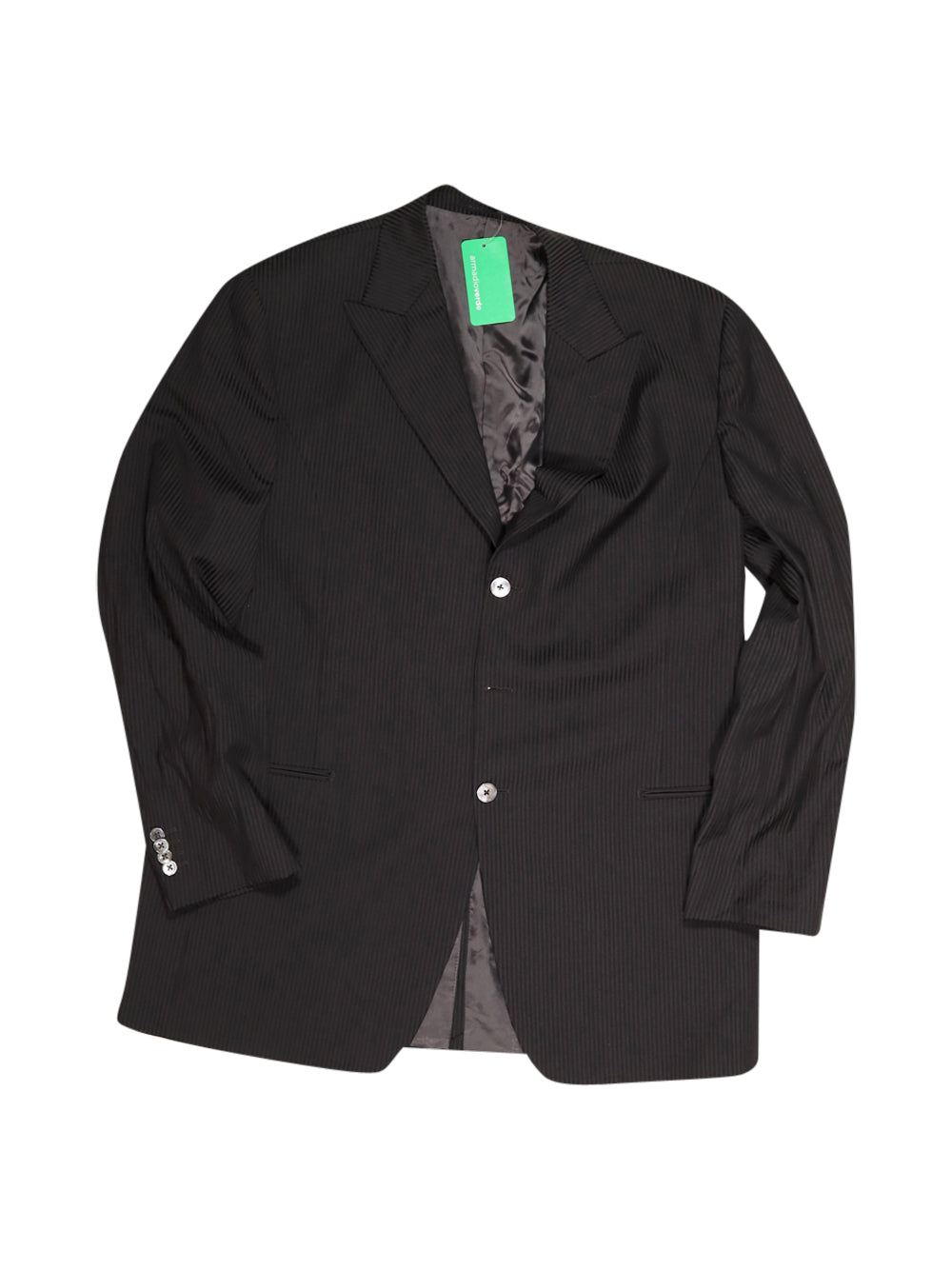 Front photo of Preloved prandina Black Man's suit - size 46/XXXL