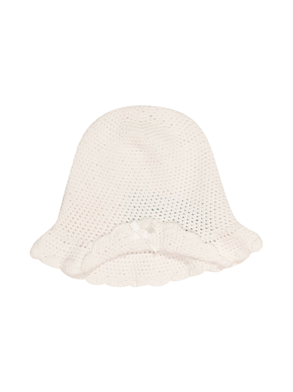 Front photo of Preloved Chicco White Girl's hat - size 18-24 mths
