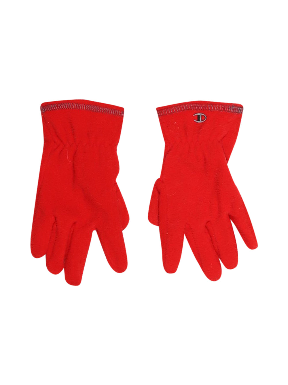Front photo of Preloved Champion Red Girl's gloves - size 10-12 yrs