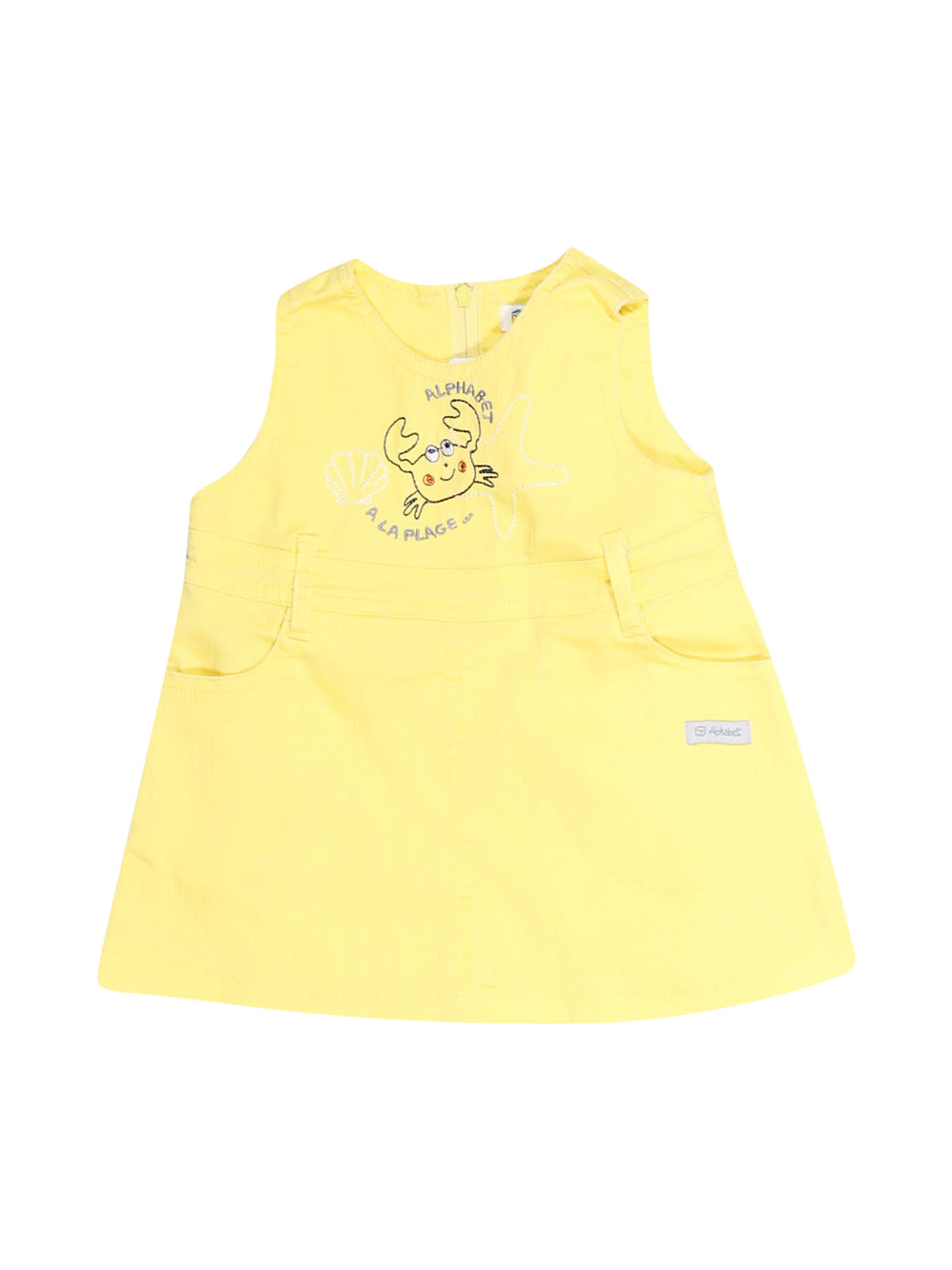 Front photo of Preloved Alphabet Yellow Girl's dress - size 1-3 mths