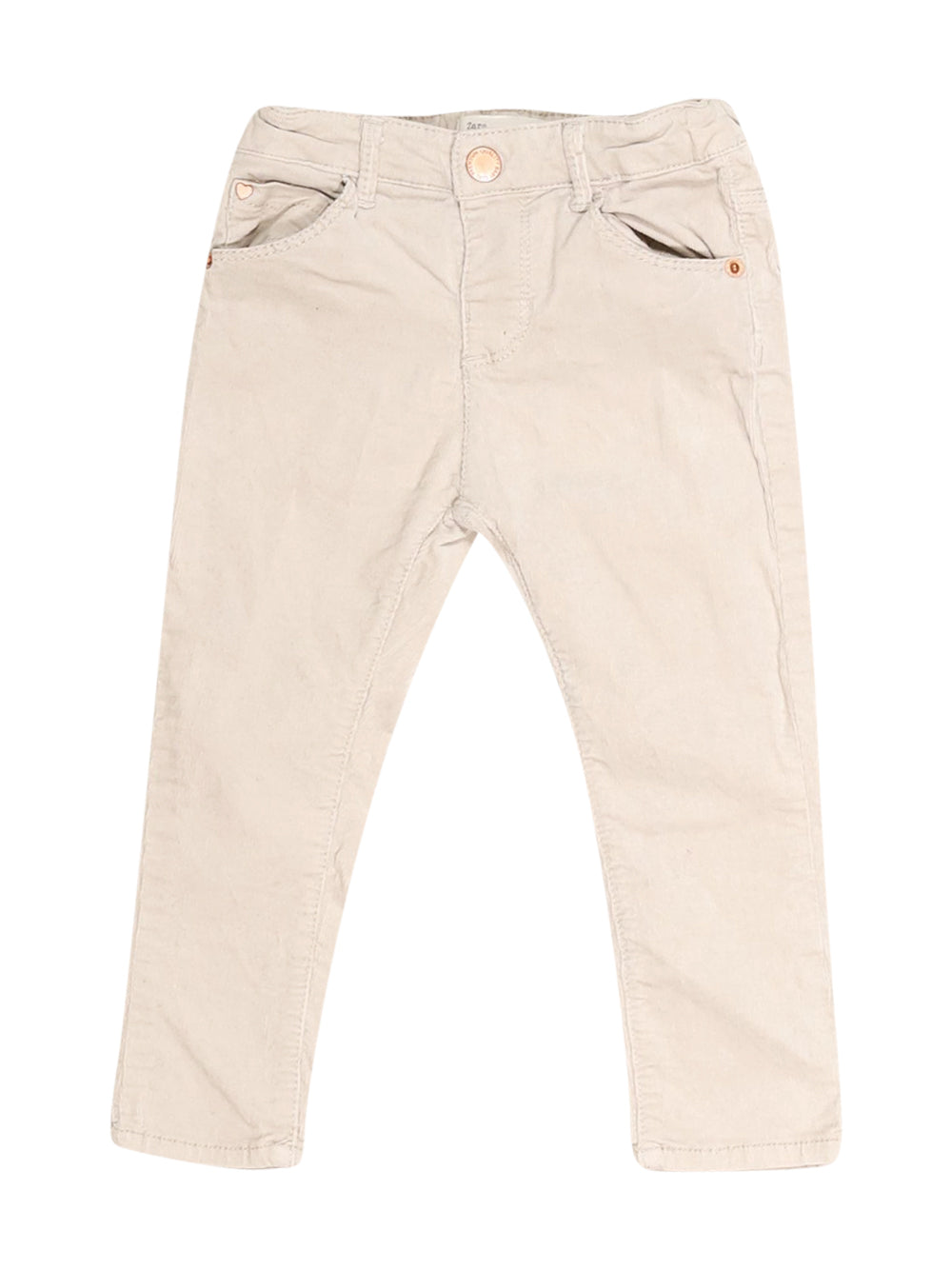 Front photo of Preloved Zara Beige Girl's trousers - size 18-24 mths