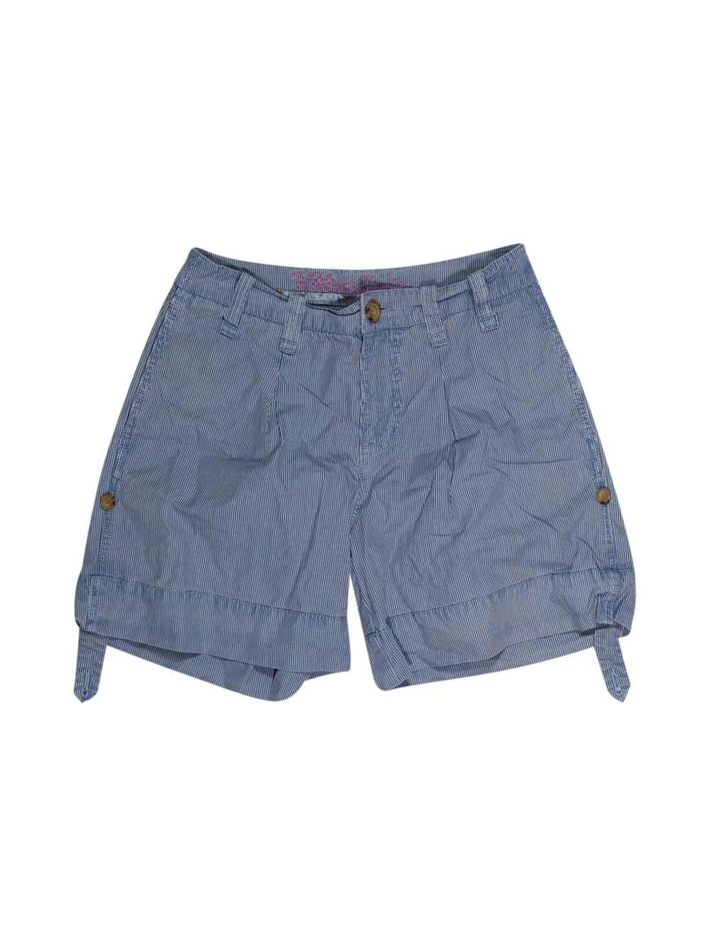 Front photo of Preloved Tommy Hilfiger Light-blue Woman's shorts - size 8/S