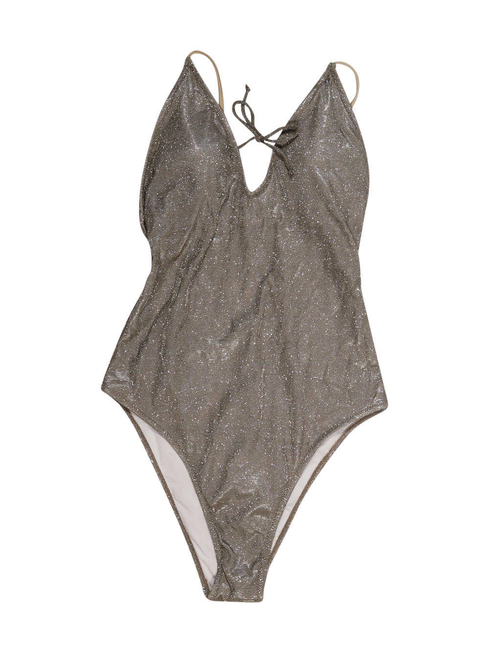 Front photo of Preloved sogno d'oro Silver Woman's swimsuit - size 14/XL