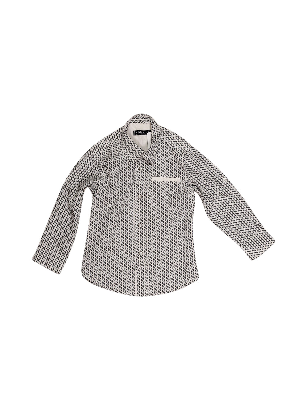 Front photo of Preloved mrk White Boy's shirt - size 2-3 yrs