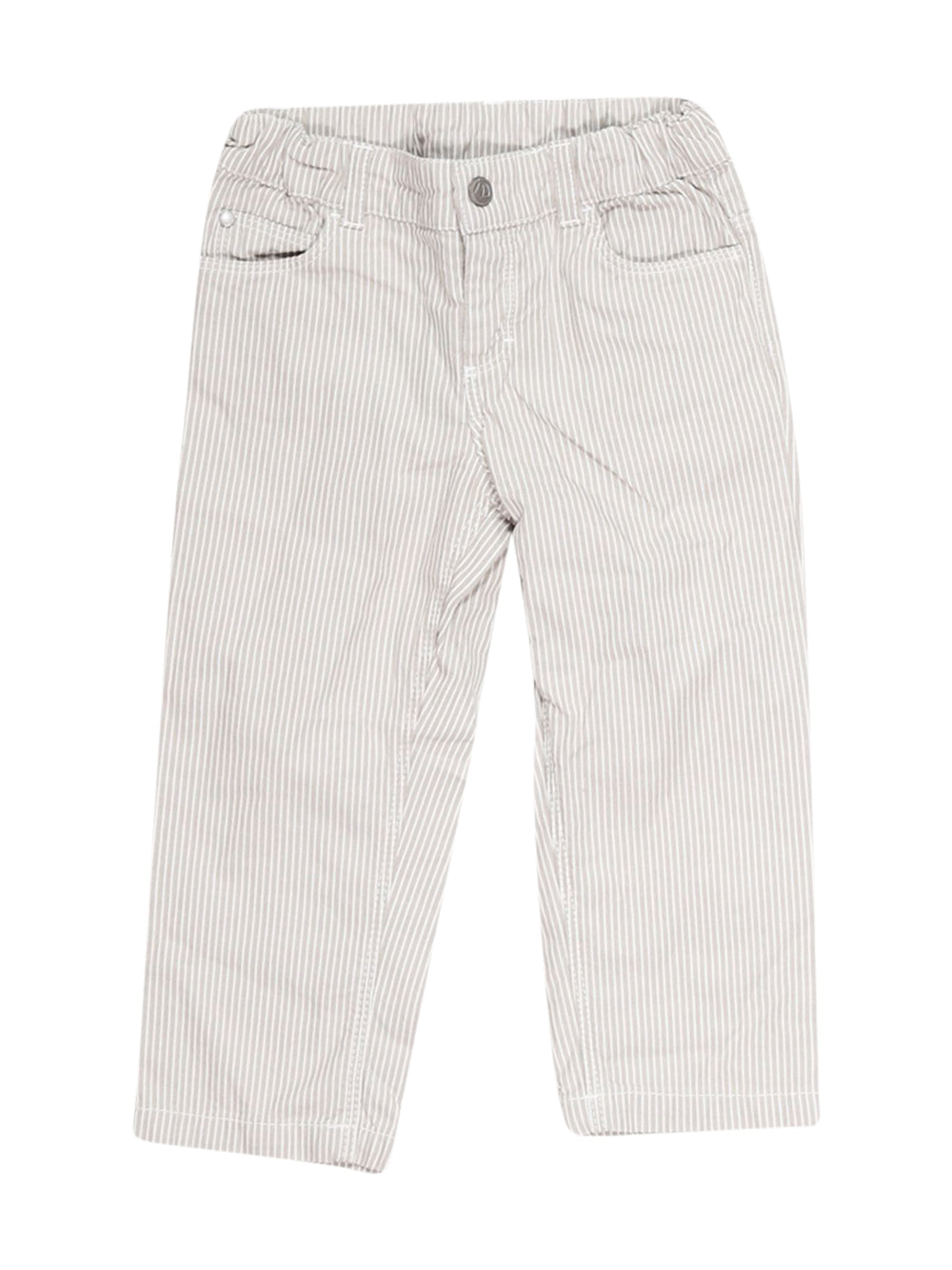 Front photo of Preloved Petit Bateau Grey Boy's trousers - size 18-24 mths
