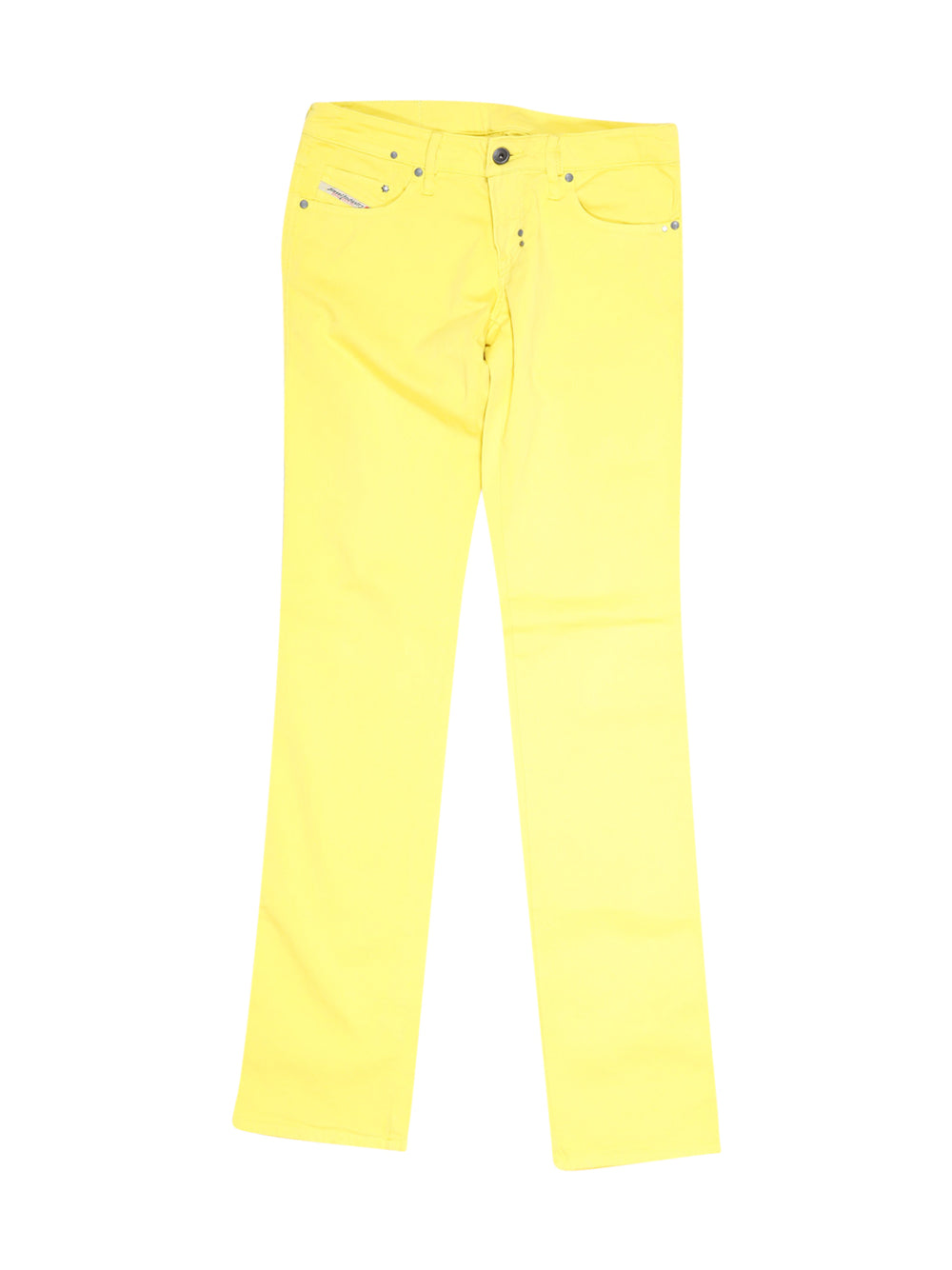 Front photo of Preloved Diesel Yellow Woman's trousers - size 8/S