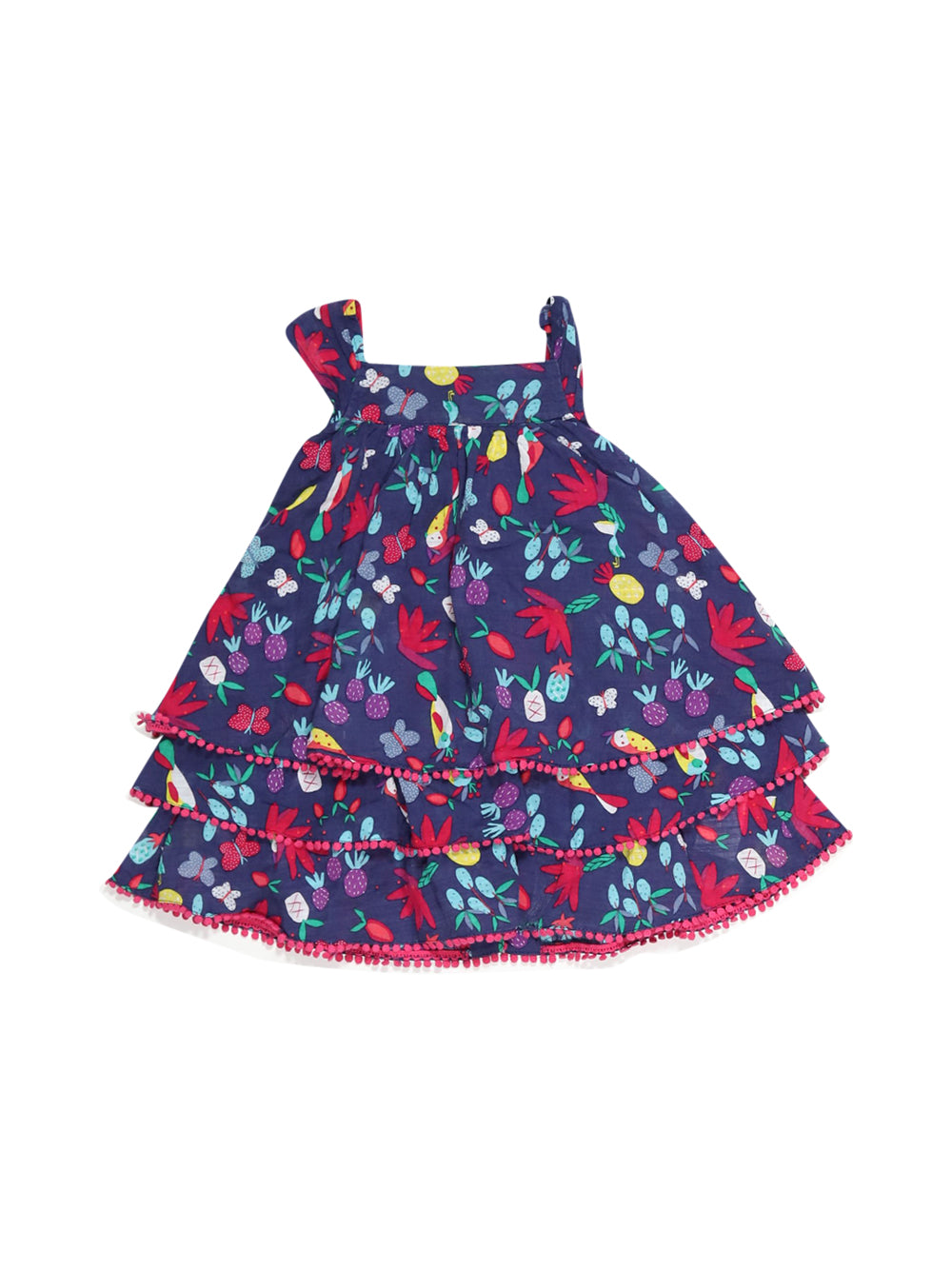 Front photo of Preloved Catimini Blue Girl's dress - size 18-24 mths