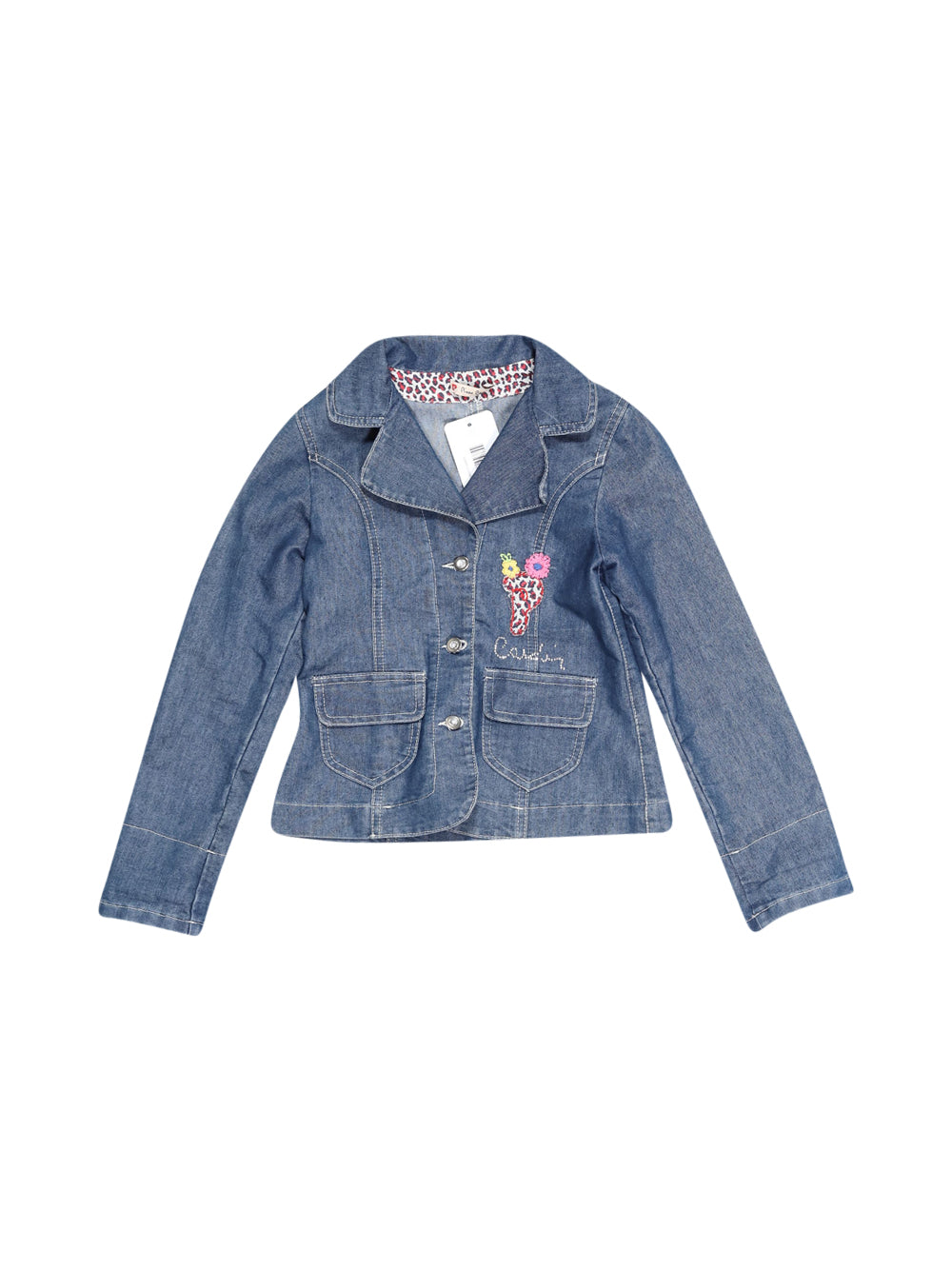 Front photo of Preloved Pierre Cardin Blue Girl's blazer - size 5-6 yrs