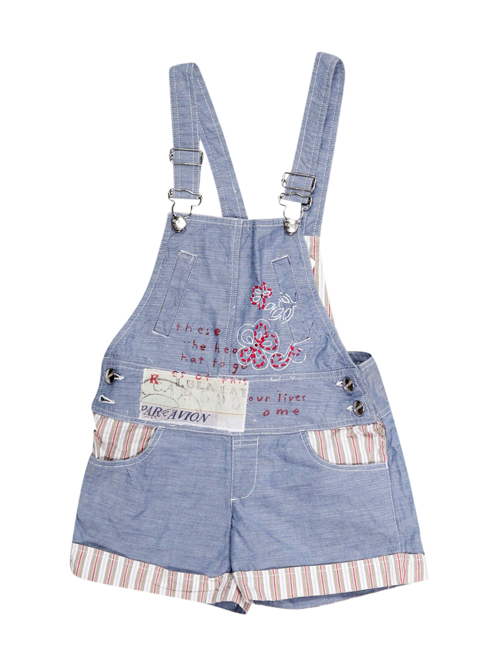 Front photo of Preloved Baby Collection - My Doll Blue Girl's overalls - size 7-8 yrs