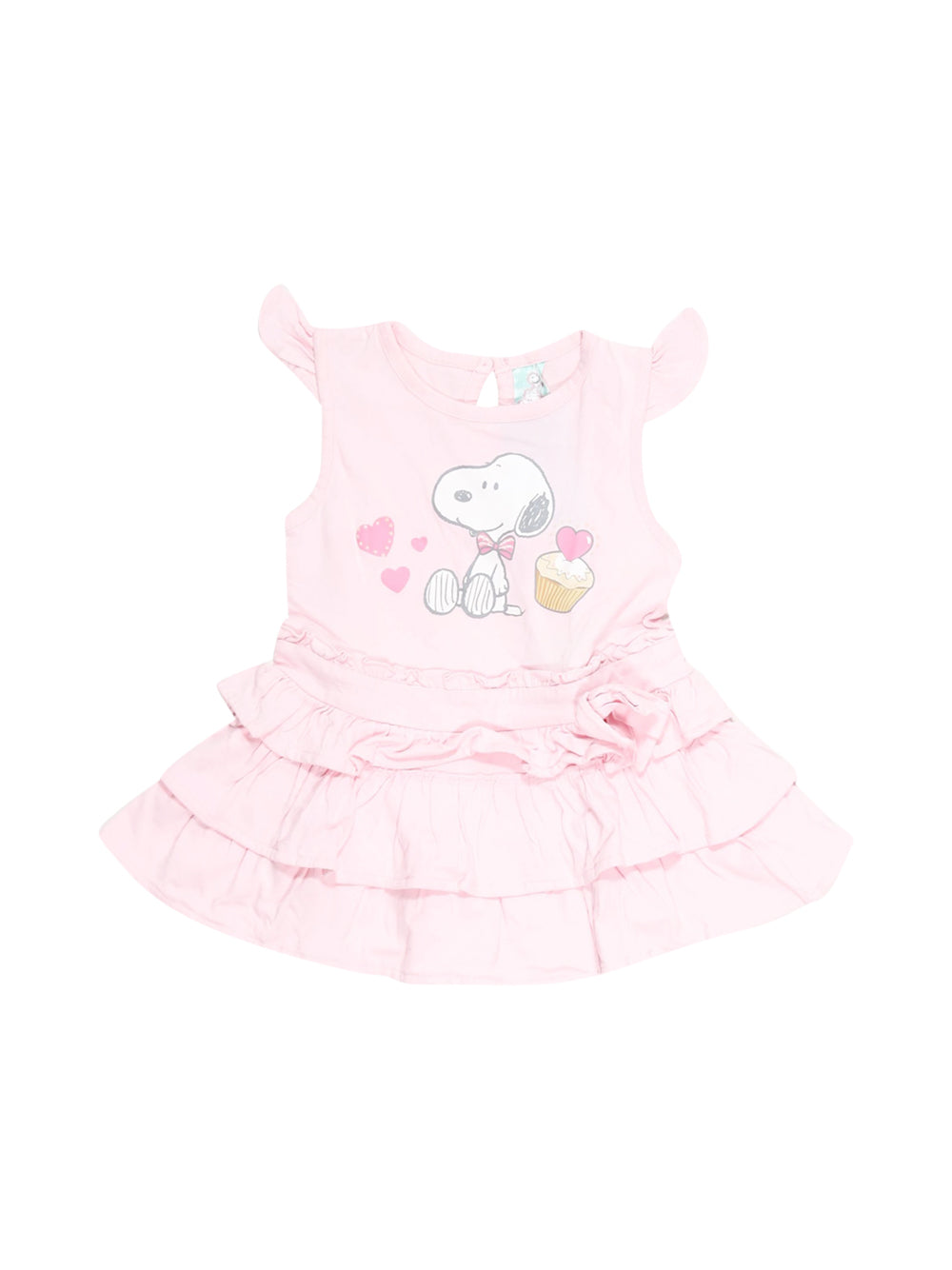 Front photo of Preloved Snoopy Pink Girl's dress - size 12-18 mths