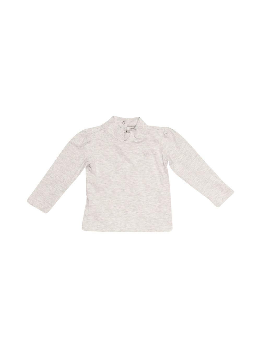 Front photo of Preloved Chicco Grey Girl's long sleeved shirt - size 12-18 mths