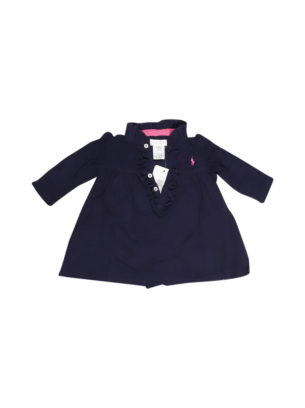 Front photo of Preloved Polo Ralph Lauren Blue Girl's dress - size 1-3 mths