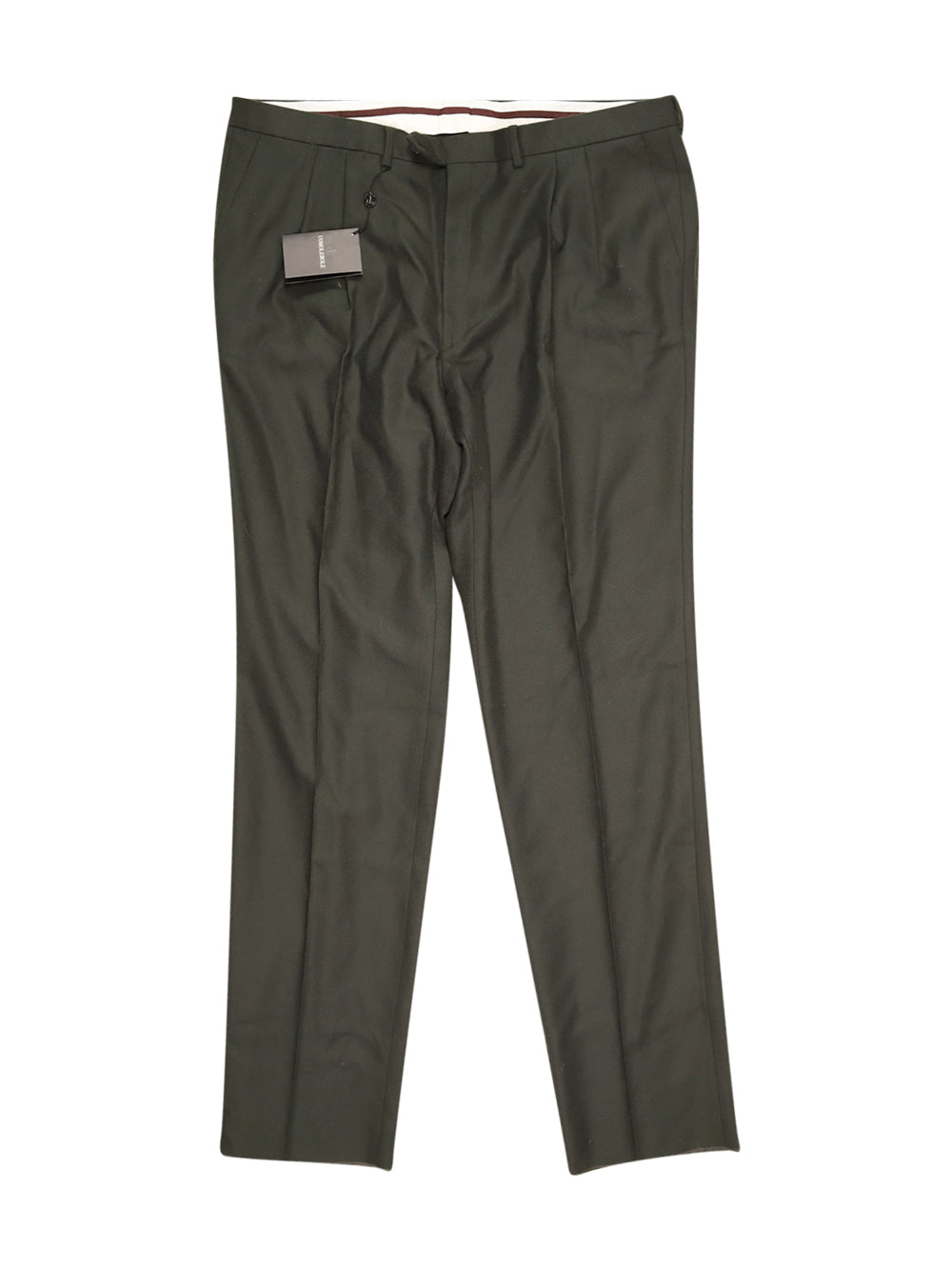Front photo of Unworn uomo lebole Green Man's trousers - size > 50/XXXXL