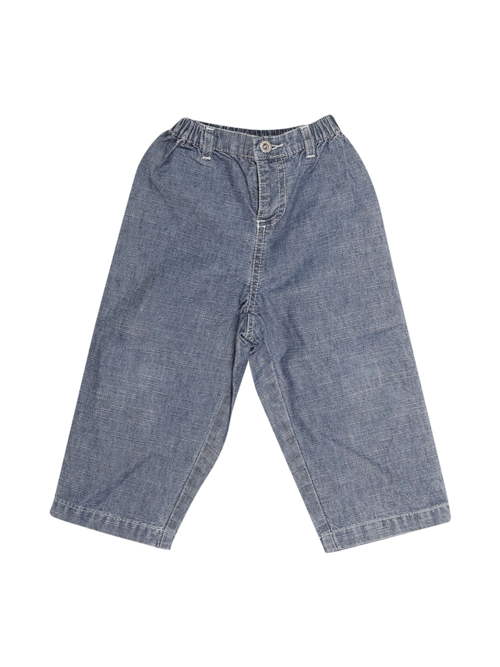 Front photo of Preloved Petit Bateau Blue Boy's trousers - size 18-24 mths