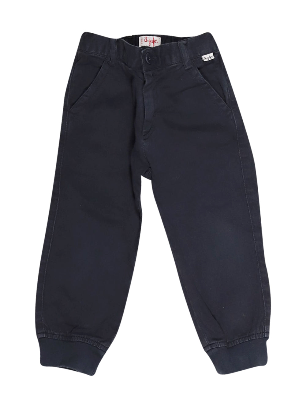Front photo of Preloved Il Gufo Blue Boy's trousers - size 18-24 mths
