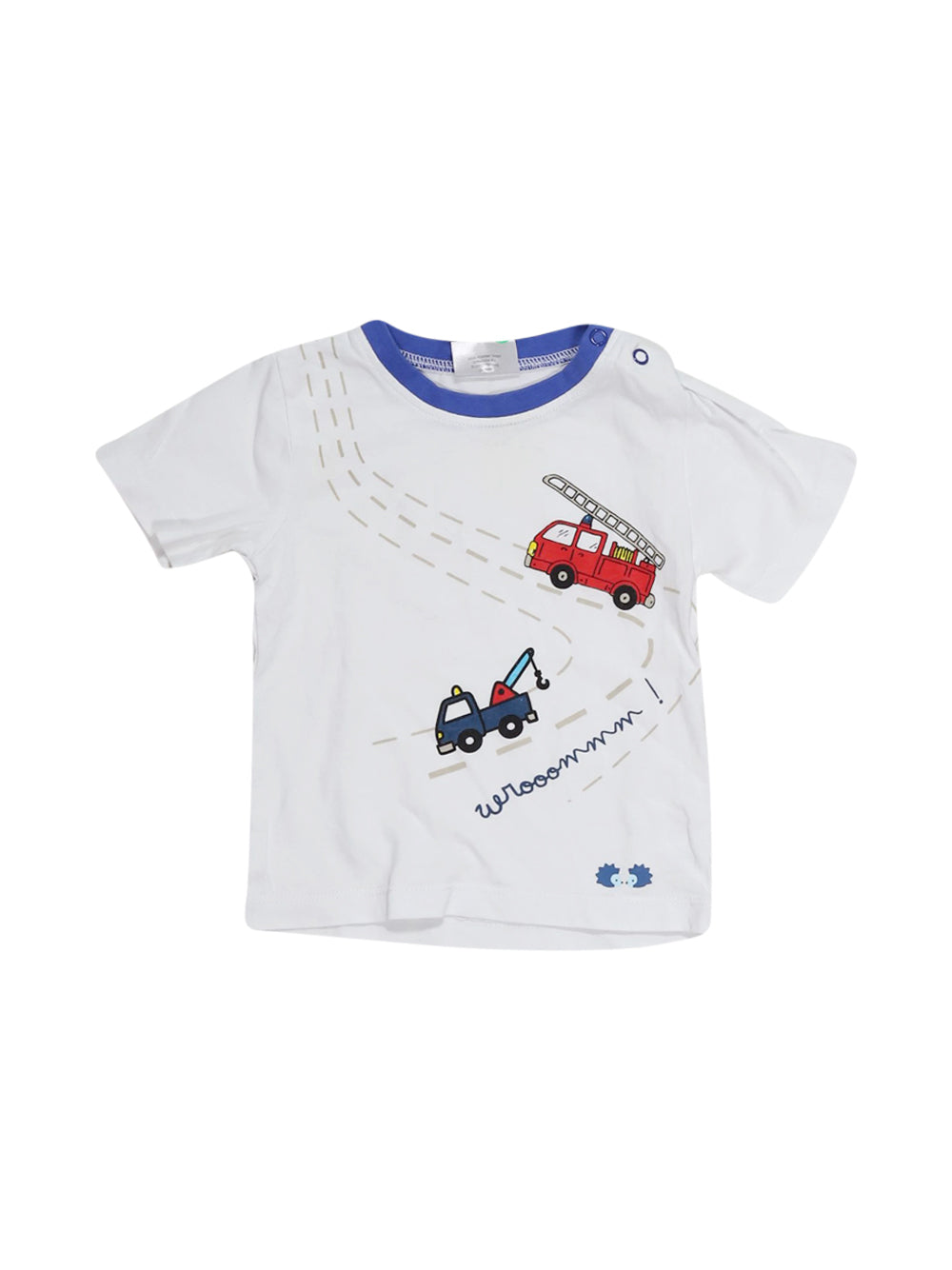 Front photo of Preloved Twins White Boy's t-shirt - size 12-18 mths