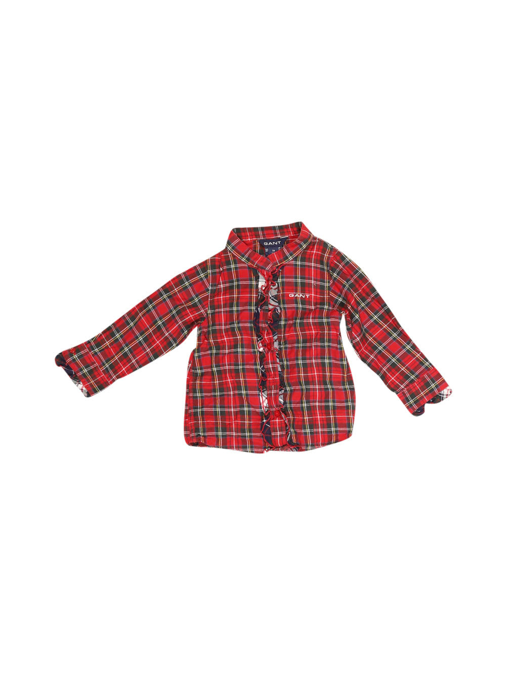 Front photo of Preloved Gant Red Girl's shirt - size 6-9 mths