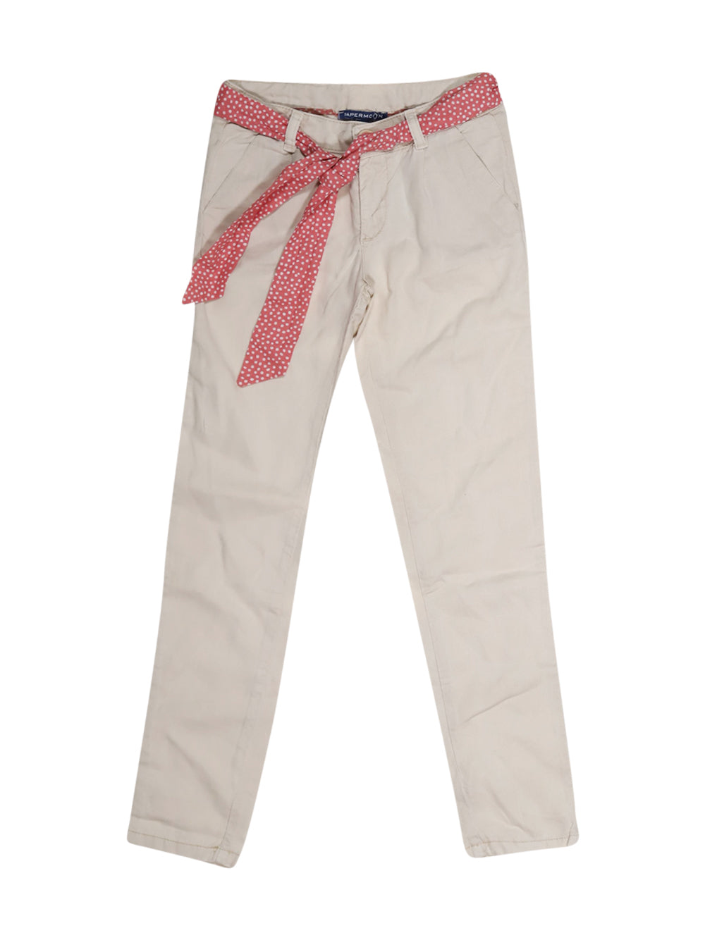 Front photo of Preloved Papermoon Beige Girl's trousers - size 6-7 yrs