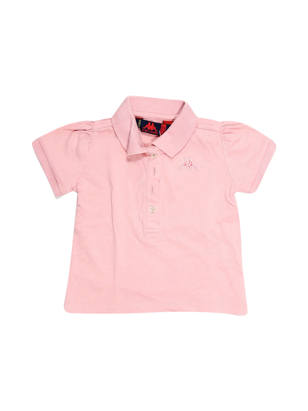 Front photo of Preloved Kappa Pink Girl's polo - size 2-3 yrs