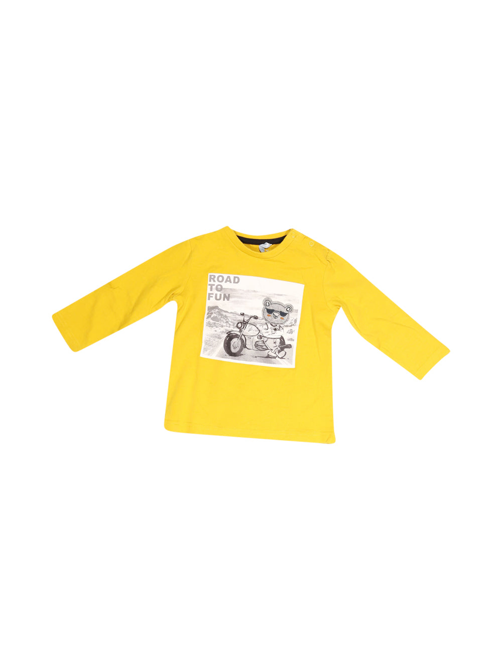 Front photo of Preloved Mauli Yellow Boy's long sleeved shirt - size 12-18 mths