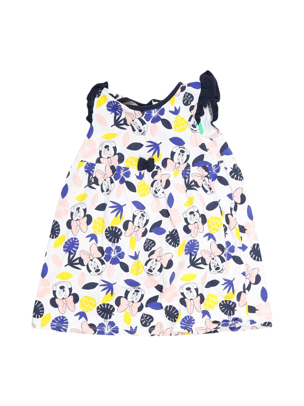 Front photo of Preloved Disney White Girl's dress - size 18-24 mths