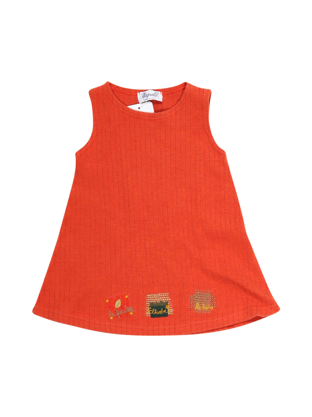 Front photo of Preloved Magnolia Red Girl's dress - size 12-18 mths