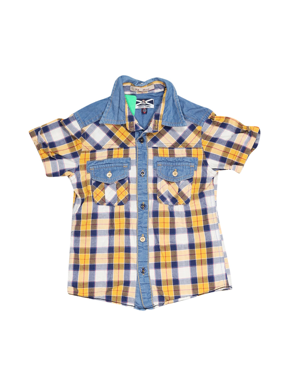 Front photo of Preloved Johnny Lambs Blue Boy's shirt - size 3-4 yrs