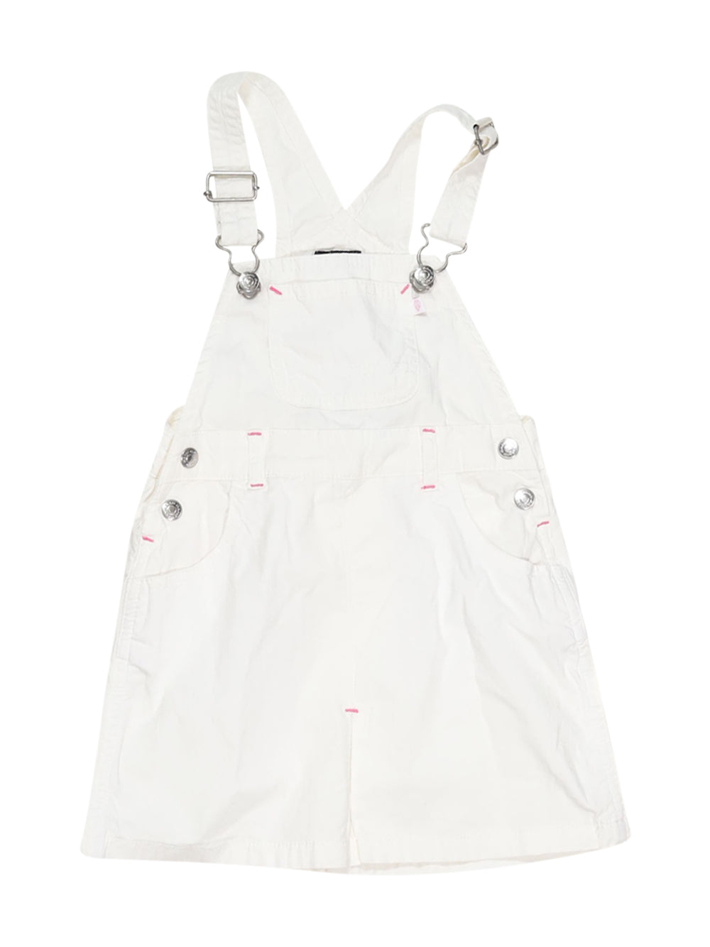 Front photo of Preloved Gant White Girl's overalls - size 2-3 yrs