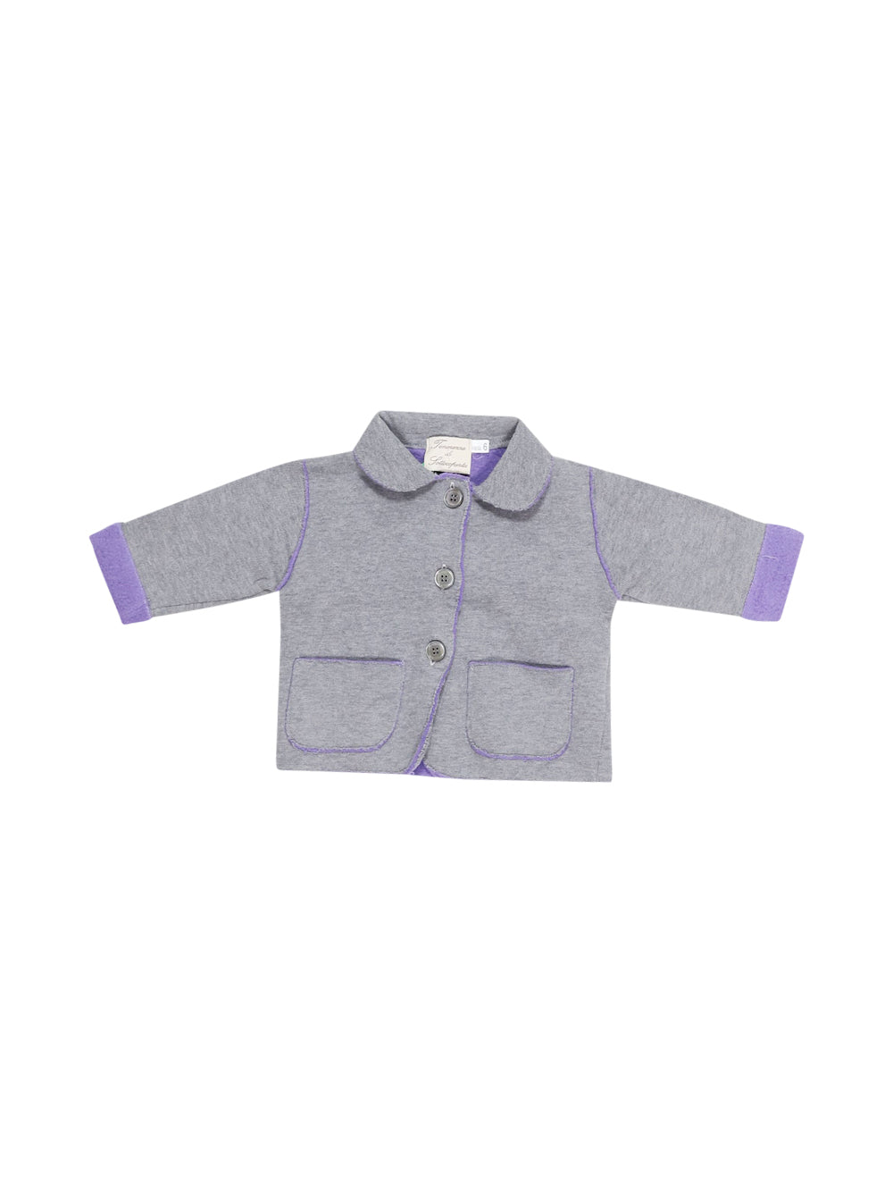 Front photo of Preloved Tenerezze Di Sottocoperta Grey Girl's jacket - size 3-6 mths