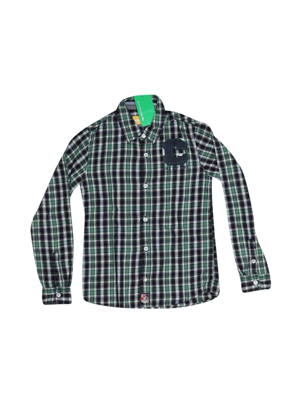 Front photo of Preloved one by one Blue Boy's shirt - size 7-8 yrs